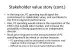 stakeholder value story cont