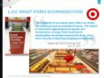 1 131 target stores w expanded food