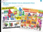 increased brand focus broader price points