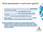 smart specialization in lahti and in general