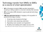 technology transfer from mnes to smes as a source of smart specialization