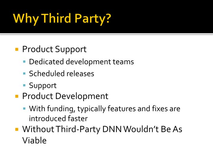 Why Third Party?
