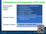 7 dimensions of trompenaars h t study