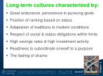 long term cultures characterized by