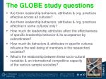 the globe study questions