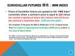 eurodollar futures imm index