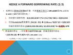 hedge a forward borrowing rate 2 2
