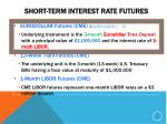 short term interest rate futures