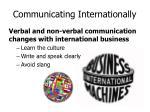 communicating internationally