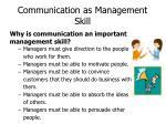 communication as management skill1