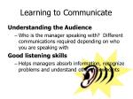 learning to communicate1