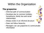 within the organization