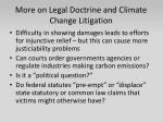 more on legal doctrine and climate change litigation