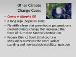 other climate change cases