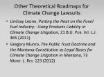 other theoretical roadmaps for climate change lawsuits