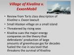 village of kivalina v exxonmobil