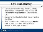 key club history