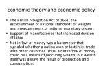 economic theory and economic policy