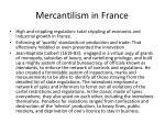 mercantilism in france
