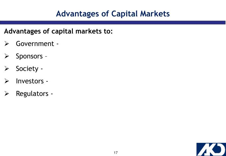 Advantages of Capital Markets