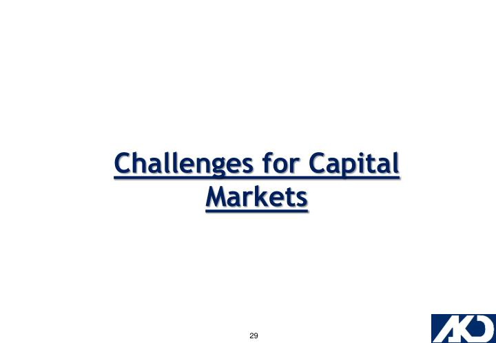 Challenges for Capital Markets