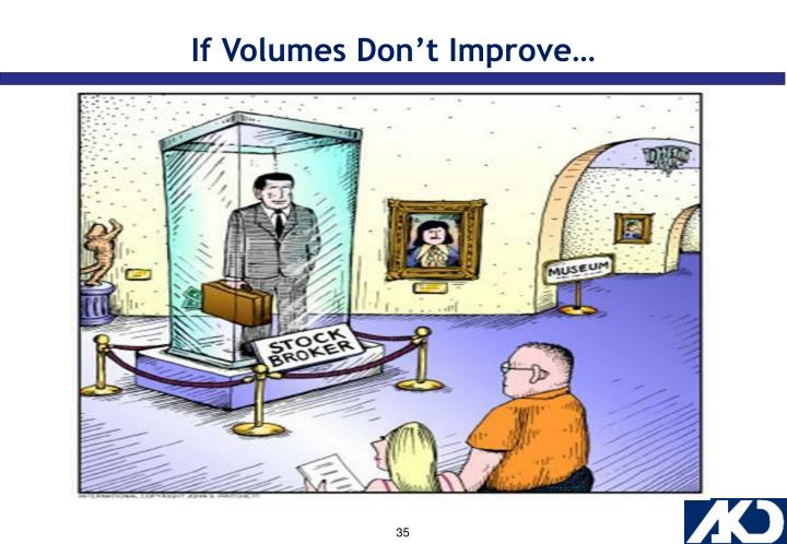 If Volumes Don't Improve…