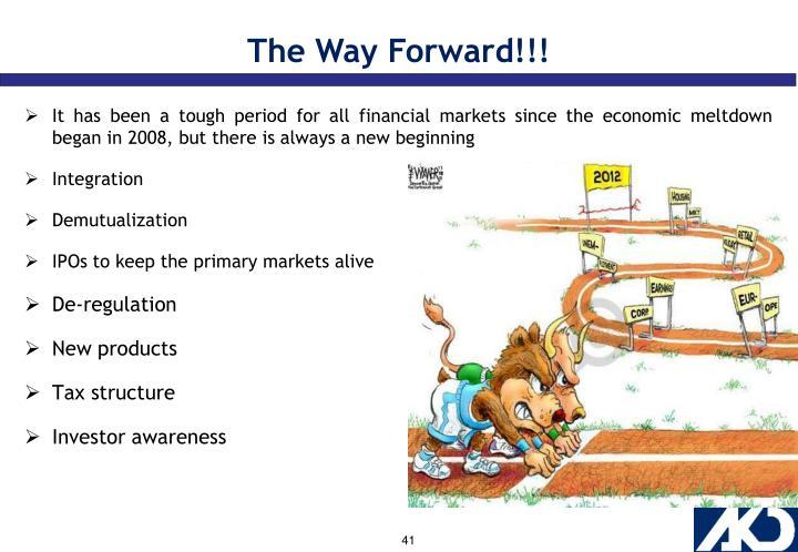 The Way Forward!!!
