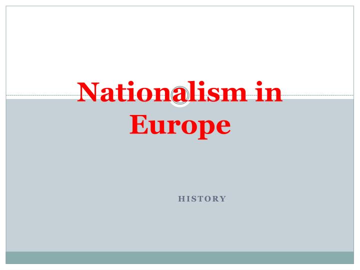 nationalism in europe n.
