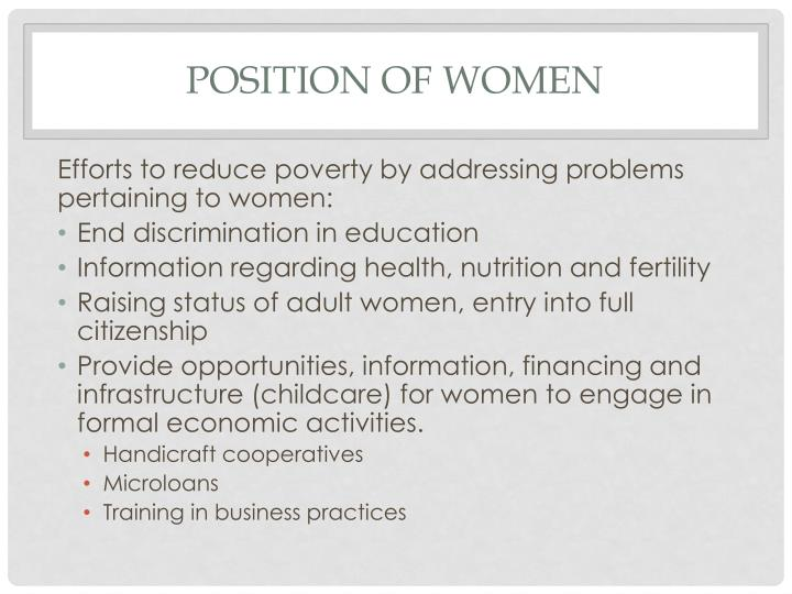 Position of women