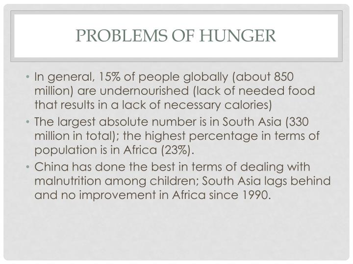 Problems of hunger