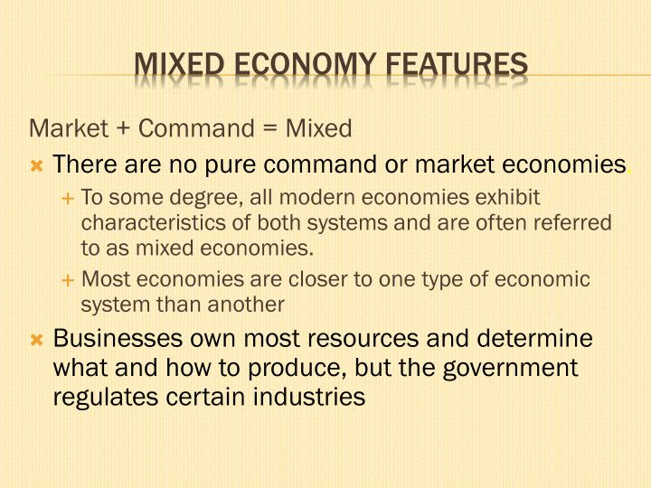 command vs market economy
