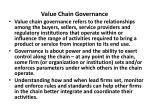 value chain governance