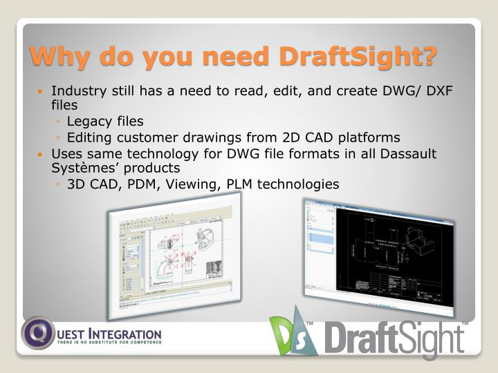 Industry still has a need to read, edit, and create DWG/ DXF files