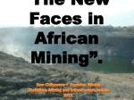 the new faces in african mining