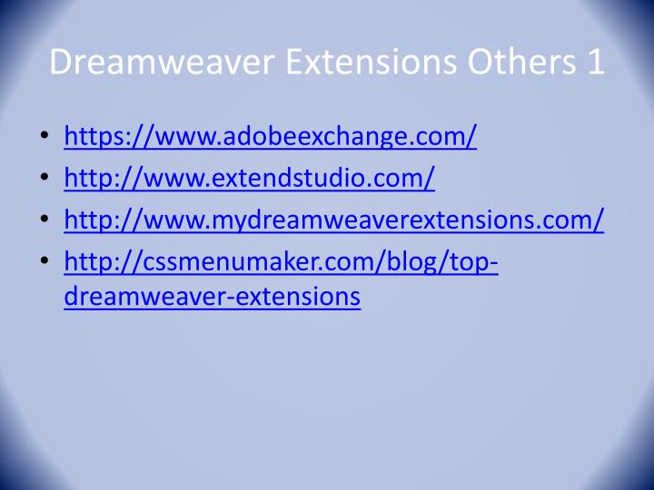 Dreamweaver Extensions Others 1