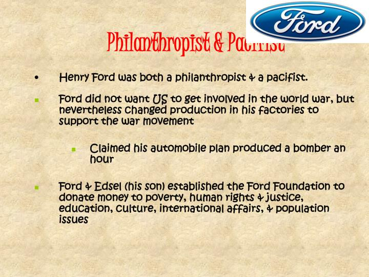 Philanthropist & Pacifist