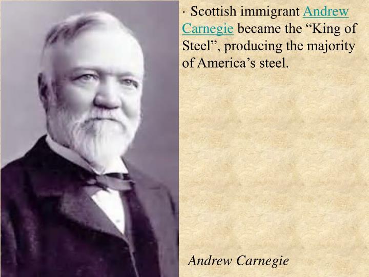 · Scottish immigrant