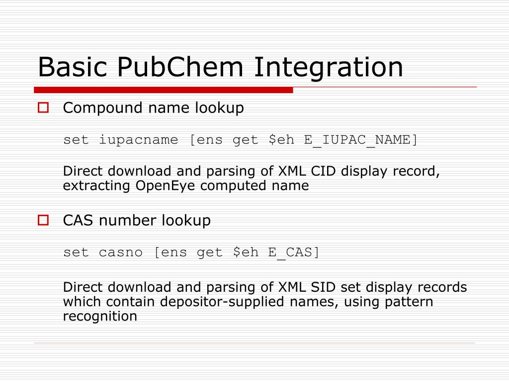 PPT - A Virtual File System for the PubChem Chemical