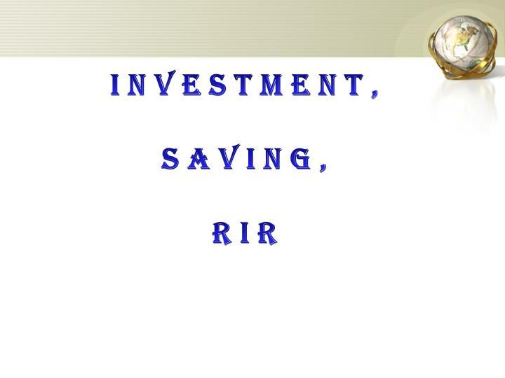 investment,