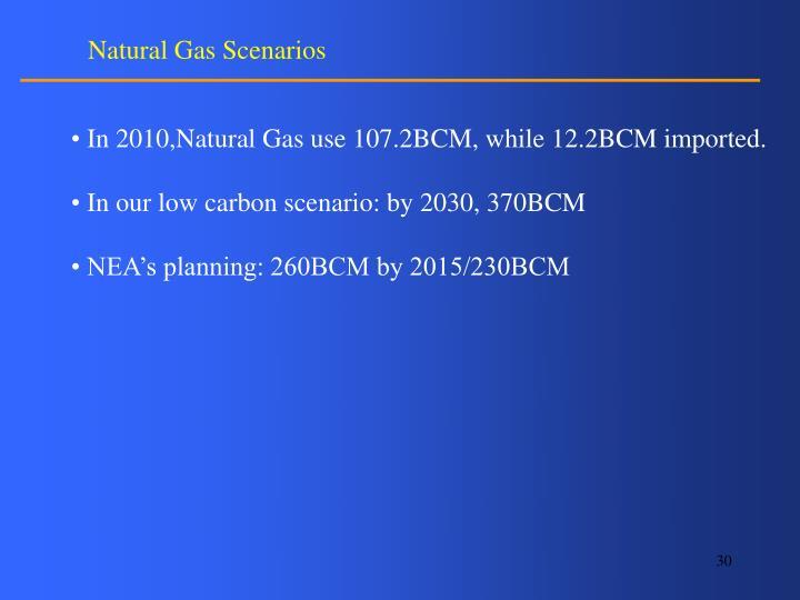 Natural Gas Scenarios