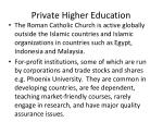 private higher education4