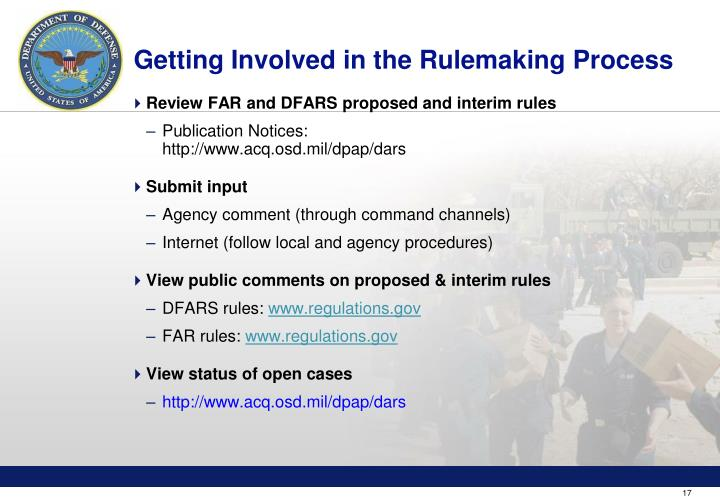 Getting Involved in the Rulemaking Process