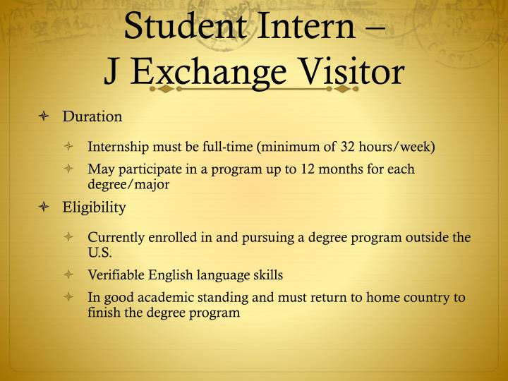 Student Intern –