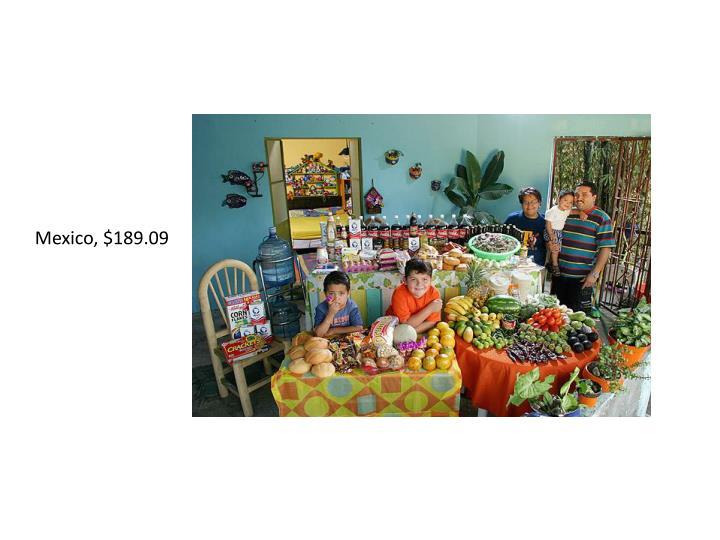 Mexico, $189.09