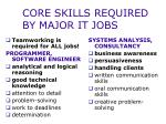 core skills required by major it jobs