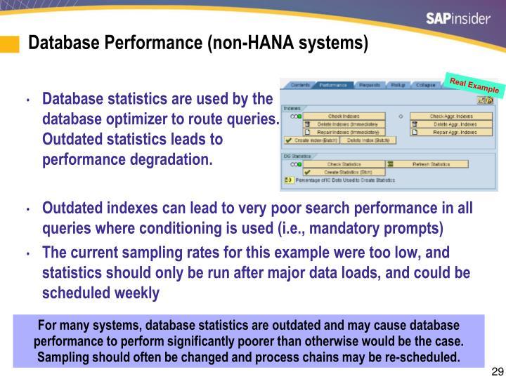 Database Performance (non-HANA systems)