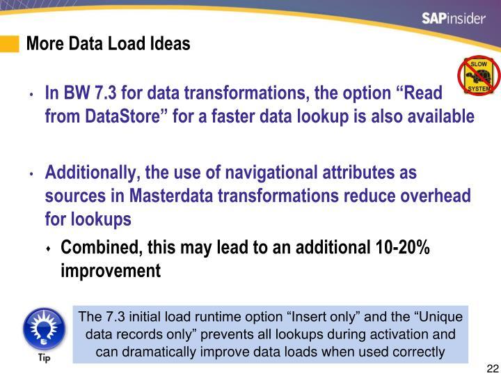 More Data Load Ideas