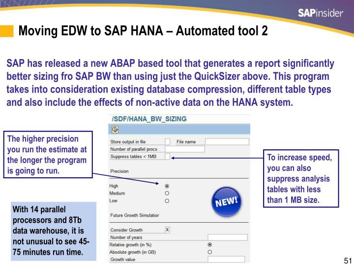 Moving EDW to SAP HANA – Automated tool 2