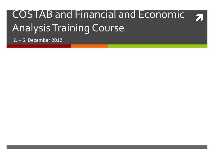 costab and financial and economic analysis training course n.