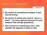 checklist for professionals2